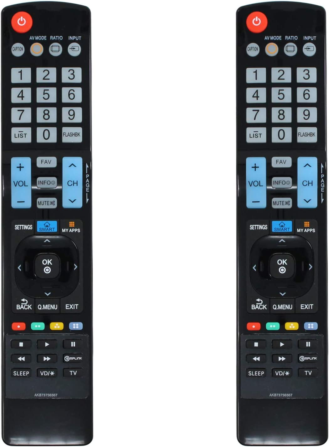2-Pack AKB73756567 Remote Control - Compatible Replacement with OFFicial Free shipping anywhere in the nation site