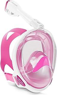 Keystand Full Face Snorkel Mask, Upgraded Breathing Mechanism Snorkeling Masks, Flat Crystal Lens, 180° Panoramic Anti-Lea...