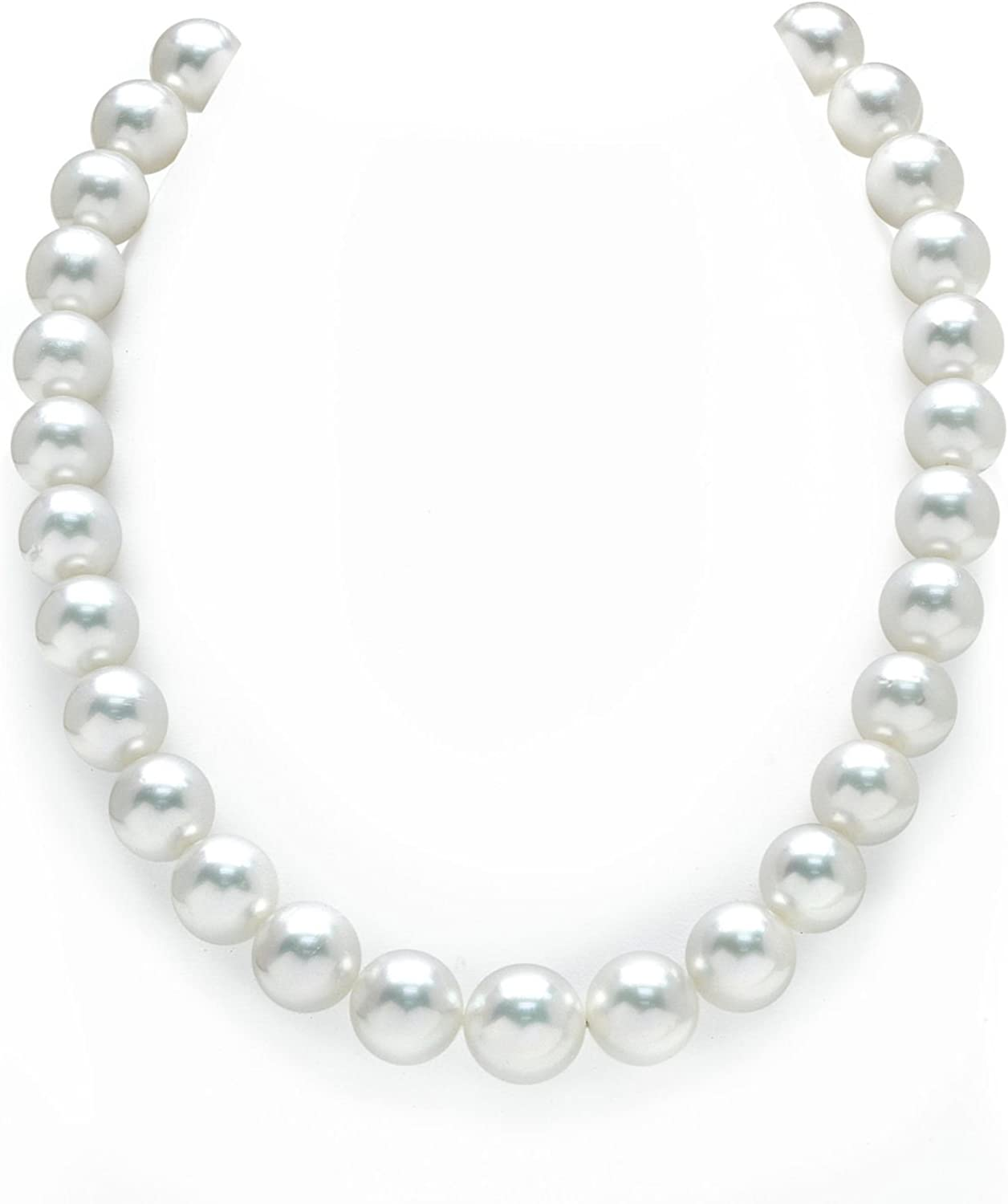 THE Ranking TOP17 PEARL Large discharge sale SOURCE 14K Gold 12-14mm Round South Sea Genuine White