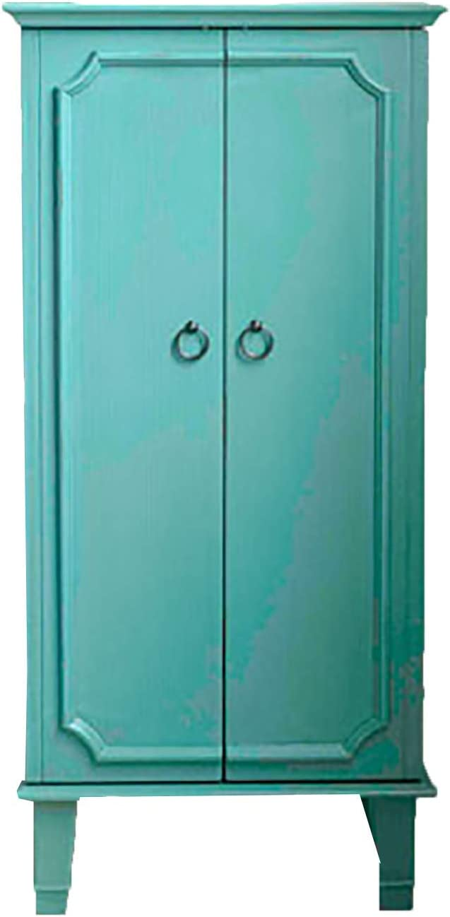 Hives and Honey 9006-349 Carson Fully Locking Jewelry Armoire, Large, Turquoise : Everything Else