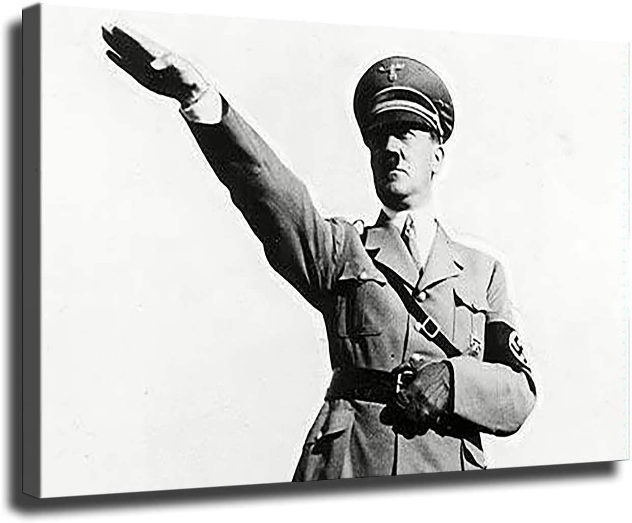Hitler Atlanta Mall Poster Max 60% OFF Nazi Gesture Fuhrer Classic Bl Painting Oil Giclee
