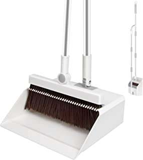 """INVOSON Telescopic Broom and Dustpan Set Cleans with Adjustable 59.8"""" Long Handle for Home Kitchen Room Office Lobby Floor..."""