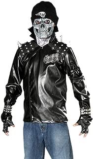 Boy's Metal Skull Biker Costume