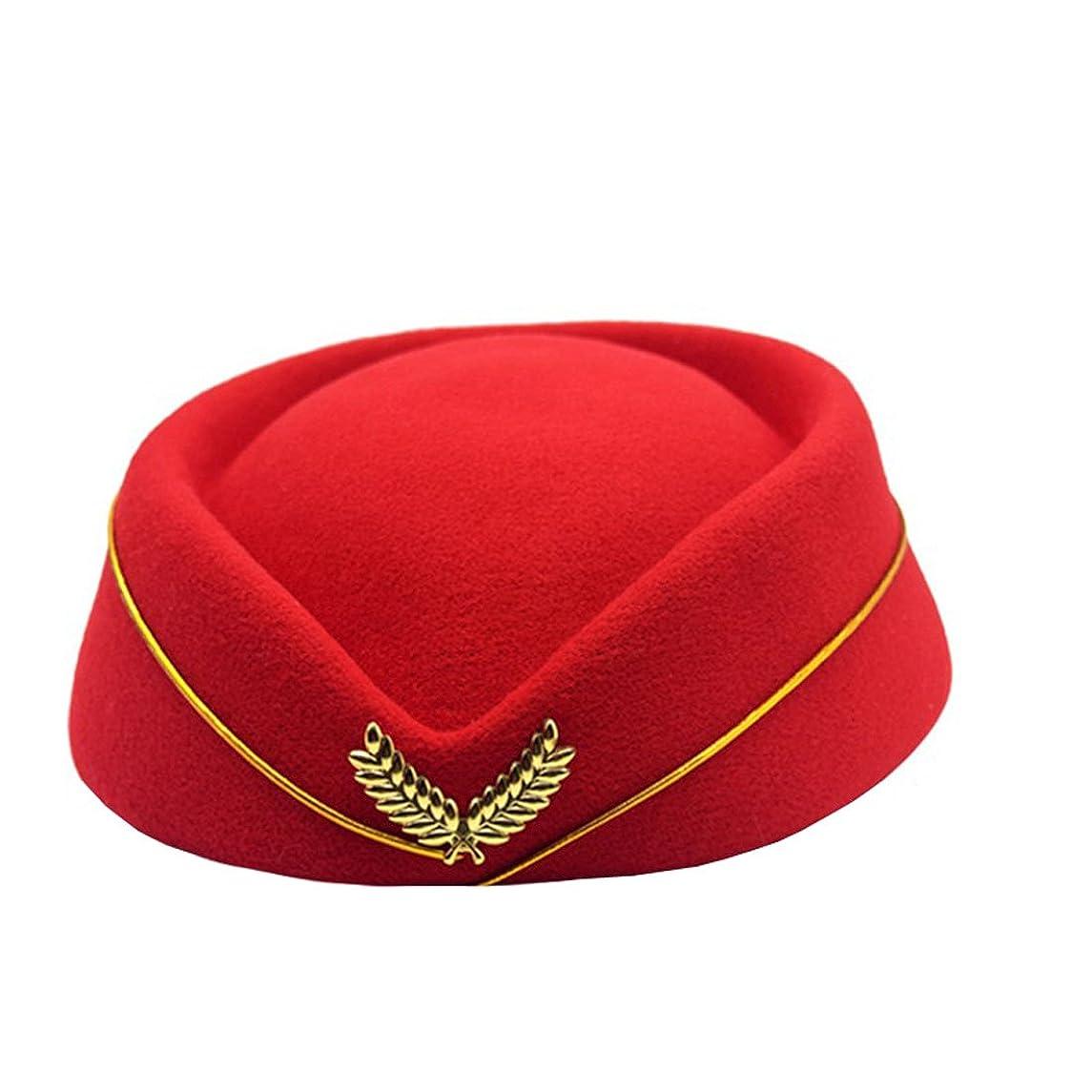 気味の悪いキャラバンソーセージYueLian レディース ヘアピン帽子 スチュワーデス帽子 アクセサリー コスプレ 髪飾り エレガント