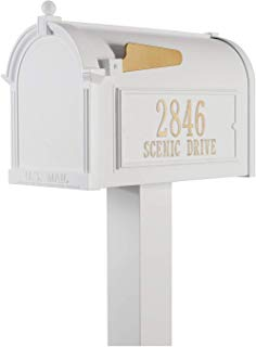 Whitehall Products Premium Mailbox Package - White,