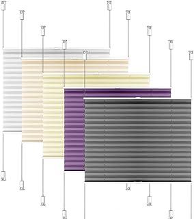 S SIENOC Estor Plisado persianas Plisadas instalación rápida y sin Agujeros persianas Rollo persianas para Ventanas (Blanco, 50x130 cm)
