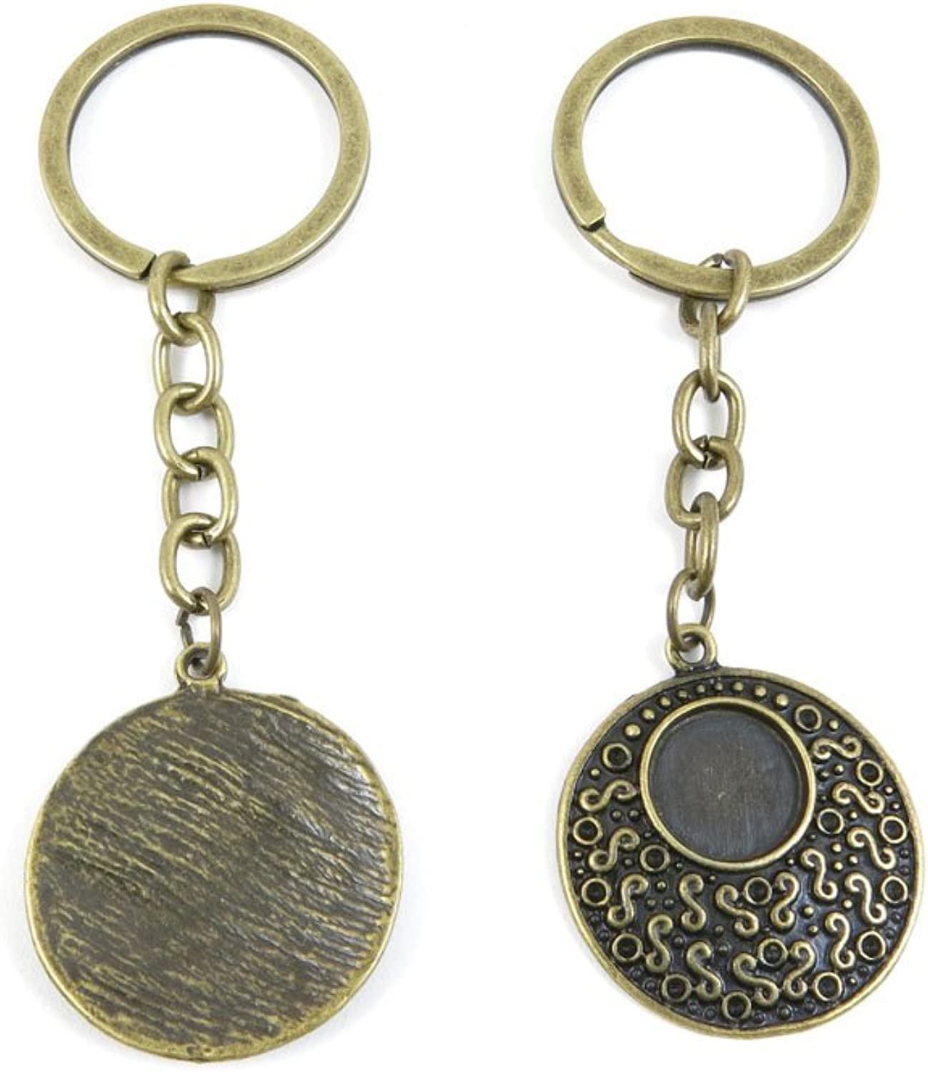 80 PCS Keyring Car Door Key Ring Tag Chain Keychain Wholesale Suppliers Charms Handmade D4GP0 S Cabochon Setting