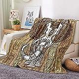 HKDGHTHJ Mantas para Sofa Baratas 130 X 150 cm clásico Amarillo Creativo Elefante Mantas para Sofa Mantas para Cama De Franela Mantas Ligeras De Microfibra - Fácil De Limpiar - Extra Suave cálido