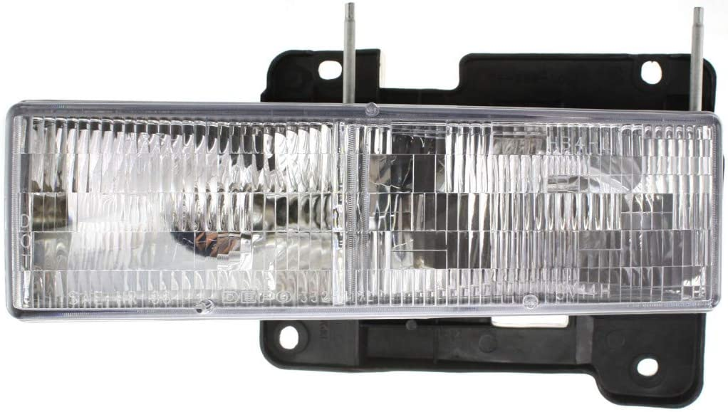 For GMC C3500 Super special price HD Limited time cheap sale Headlight Side Hal 1991-2002 Composite Driver