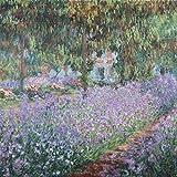 Artland Alte Meister Kunst Wandtattoo Claude Monet Bilder Impressionismus 50 x 50 cm Blühenderisn Monets Garten Kunstdruck Klebefolie Gemälde R0GL