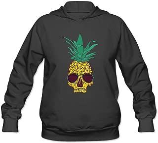Cool Pineapple Skull With Sunglass Women's Hooded Sweatshirt
