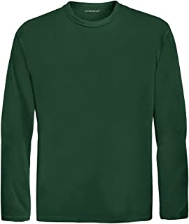 DRI-Equip Youth Long Sleeve Moisture Wicking Athletic Shirts,M-Forest