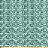 ABAKUHAUS Grün Microfaser Stoff als Meterware,