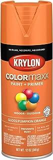 Krylon K05532007 COLORmaxx Spray Paint, Aerosol, Pumpkin Orange