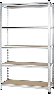 AmazonBasics - Estantería de rejilla de cartón prensado de doble poste con varios estantes de resistencia mediana - 121...