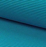 0,5m Bündchen-Schlauch Ringel Petrol-türkis 24 Breite der