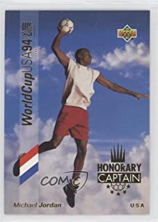 Michael Jordan (Trading Card) 1993 Upper Deck World Cup 94 Preview English/Spanish - Honorary Captain - Gold #HC3