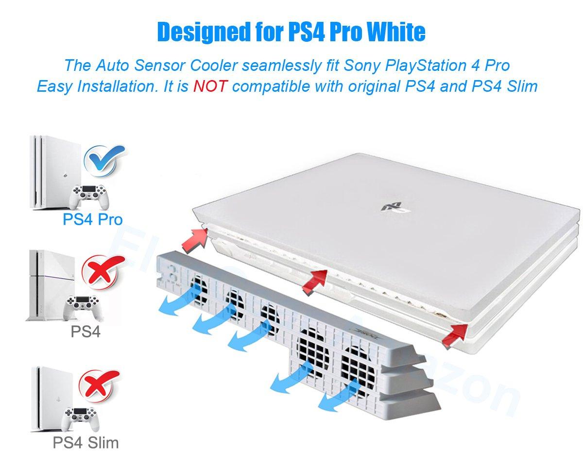 PS4 Pro Ventilador de refrigeración el Color Blanco - ElecGear ...
