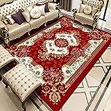 ZAZN European Style Living Room Carpet, Non-Slip Home Sofa, Coffee Table Mat, Bedroom, Large Area Printed Floor Mat, Bedside Blanket