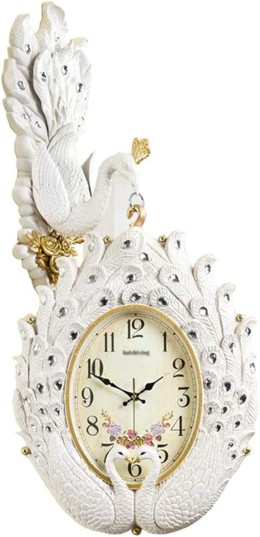 YONGMEI Wall Clock - Retro Double-Sided Clock Living Room Clocks