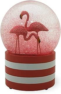 Boston International Flamingo Flair Pink 3.5 x 6 Inch Glass Glitter Snow Globe