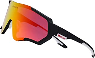 BRZSACR Polarized Sports Sunglasses Driving Glasses Shades for Men Women Unbreakable Frame for Cycling Baseball