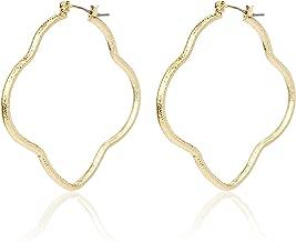 Pomina Lightweight Moroccan Quatrefoil Clover Dangle Drop Earrings