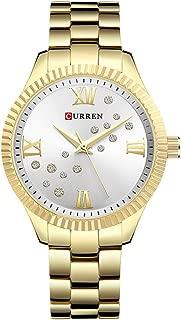 CURREN Original Women's Girls Sports Waterproof Stainless Steel Quartz Wrist Watch 9009