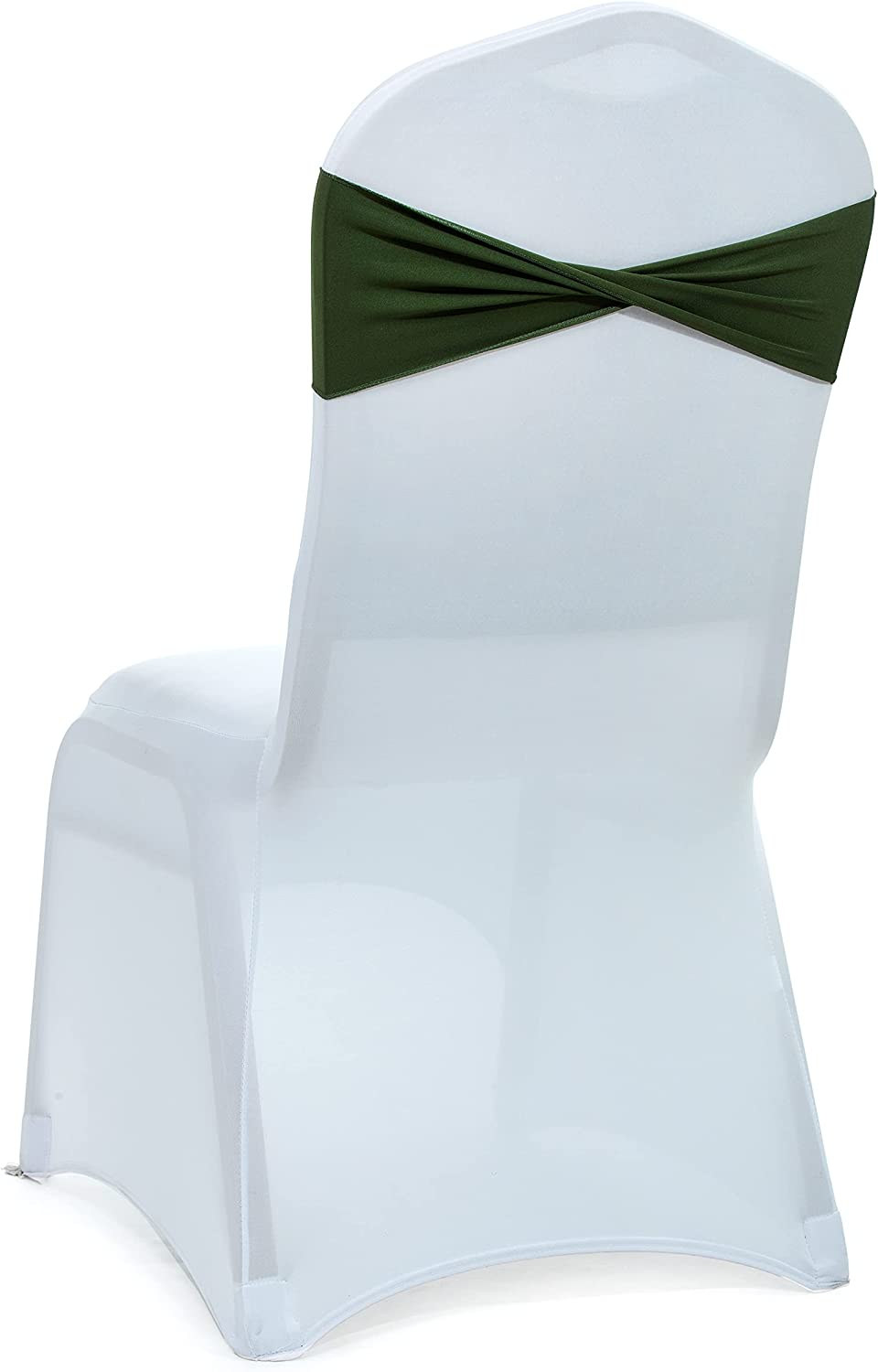mds Pack of 50 Spandex Chair Max 66% OFF sash Elastic Large special price !! Bands Sashes Bow