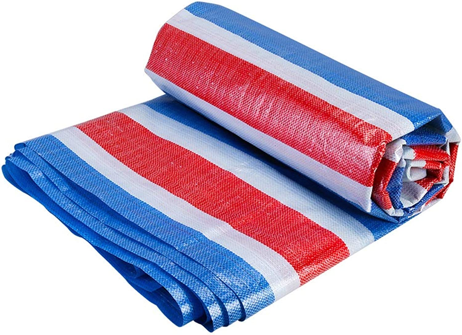 Jia He Tarpaulin Outdoor Tarpaulin Awning red blueee and White color Strip Cloth Shade Cloth Plastic Cloth, 18 Sizes @@ (Size   6mX10m)
