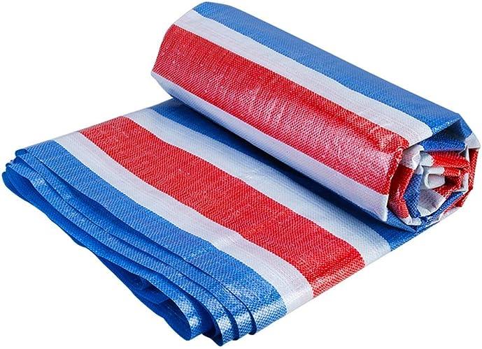 XX Tarpaulin XiaoXIAO Toile de Prougeection pour auvent Rouge, Bleu et Blanc, Tissu en Plastique, 18 Tailles Bache (Taille   6mX8m)