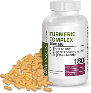 Turmeric Curcumin with BioPerine - High Potency Premium Joint Support with 95% Standardized Curcuminoids - Non-GMO, Gluten Free Soy Free Capsules with Black Pepper - 180 Count