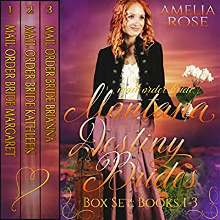 Montana Destiny Brides Box Set     Books 1-3              By:                                                                                                                                 Amelia Rose                               Narrated by:                                                                                                                                 Charles D. Baker                      Length: 9 hrs and 7 mins     14 ratings     Overall 4.1