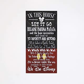 In This House We Do Disney Wooden Sign, Disney, Disney Gifts, Disney Decor, Disney Birthday Gift, Disney Christmas, Disney Decorations, Gift