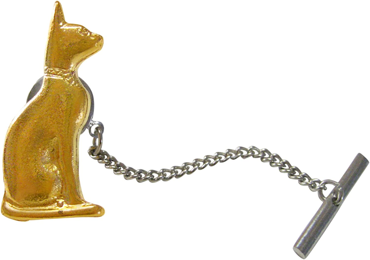 Gold Toned Egyption Cat Tie Tack
