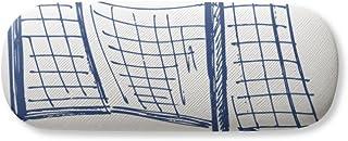 Blue Football Door Net Pattern Gl Case Eyegl Hard Shell Storage Spectacle Box
