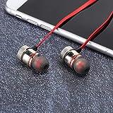 Yisenda Auriculares estéreo intrauditivos Auriculares Bluetooth Auriculares intrauditivos Teléfono fpr(Red)