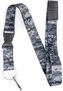Limeloot Urban Digital Camo Premium Lanyard with Breakaway, Release Buckle, and Flat Ring.