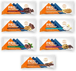 PROBAR - Base Protein Bar, Variety Pack (One of Each Flavor), Non-GMO, Gluten-Free, Certified Organic, Healthy, Plant-Based Whole Food Ingredients, Natural Energy (7 Count) Packaging May Vary