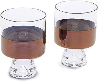 Tom Dixon Men's Tank Low Ball Glasses Set, Clear/Copper, One Size