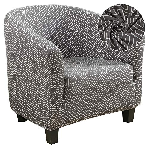 SearchI Club Chair Slipcover,Stretch Spandex Removable Geometric Pattern Armchair Covers, Sofa Cover Furniture Protector for Living Room Arm Chair Cover Geometric Couch Covers
