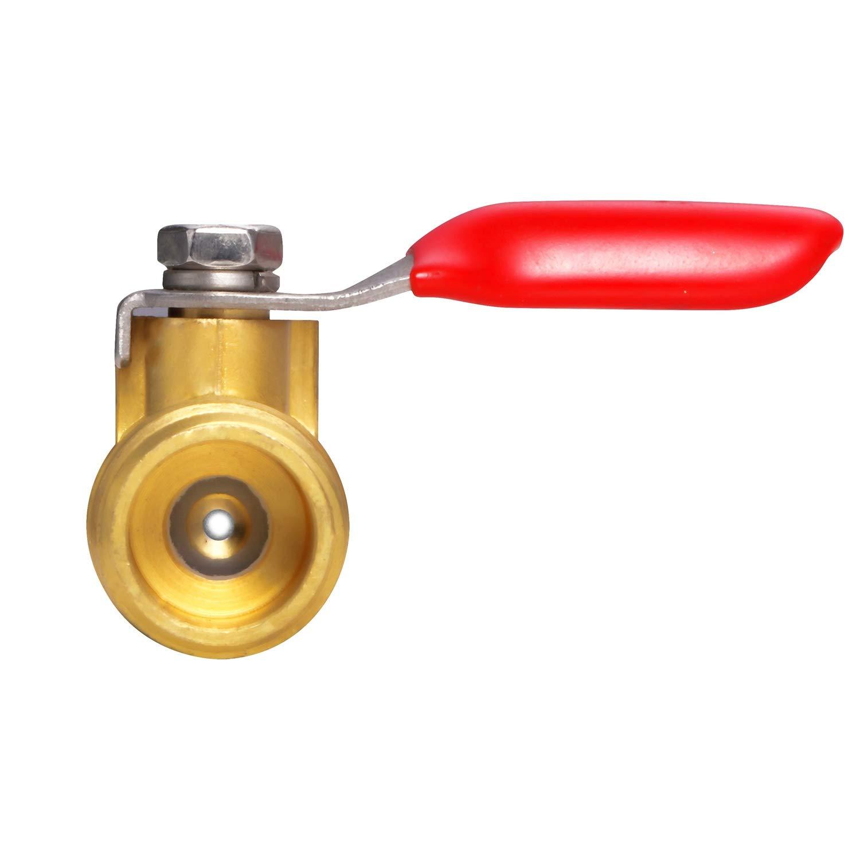 Litorange 2 PCS Brass Water Mini Ball Valve Shut Off Switch 3//8 NPT Male Thread x 3//8 INCH Hose Barb Pipe Tubing Fitting Coupler 180 Degree Operation Handle