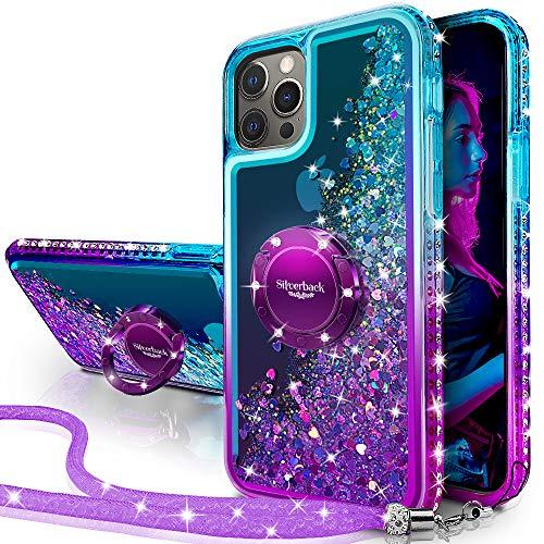 Miss Arts Funda iPhone 12 Pro MAX,[Silverback] Carcasa Brillante Purpurina con Soporte...