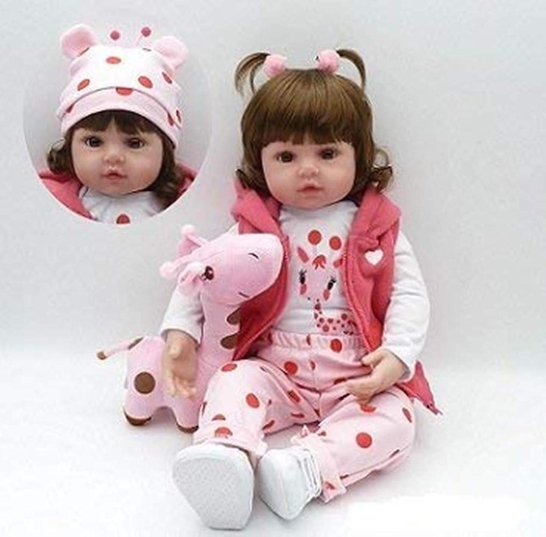 ZIYIUI 18   Reborn Baby Doll Lifelike Handmade Realistic Soft Silicone Vinyl Dolls Girls