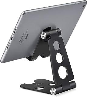 Sponsored Ad – Adjustable Tablet Stand, PHOCAR Desktop Cell Phone Holder Aluminum Portable Folding Mounts with Anti-Slip B...