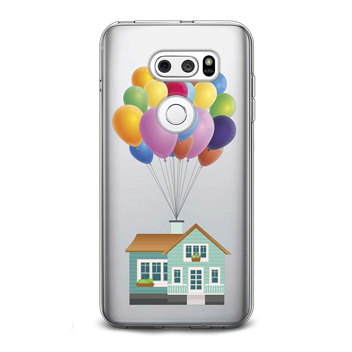 Lex Altern TPU Case for LG G8 Stylo 4 K11 G7 ThinQ G6 V40 V35 V50 K8 New Clear Figure Cute Up Silicone Movie Cartoon Cover Kawaii Balloon Print Protective Lightweight Flexible Girl Women Soft Gift