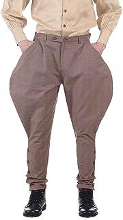 ThePirateDressing Steampunk Victorian Cosplay Costume Mens Archibald Jodhpur Pants Trousers C1326