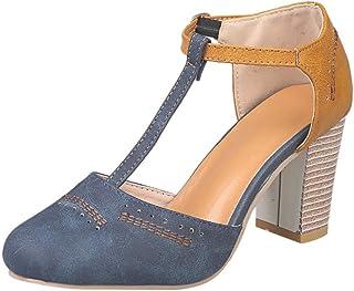 Alaso Femme Chaussure Mode Sandale Escarpins Soirée Talons Hauts Lanière Cheville Plateforme Femme Talon Chunky Compensé E...