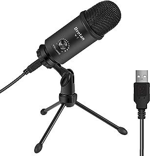 Sponsored Ad - USB Microphone, Condenser desktop Computer Mic 192KHZ/24BIT Plug & Play with Professional Sound Chipset...