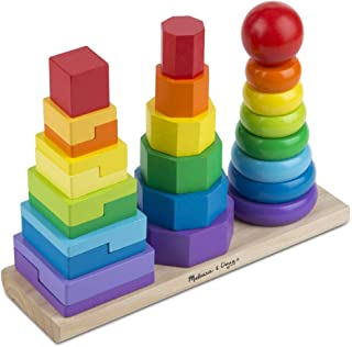 Melissa and Doug Geometric Stacker 567 Educational Toys